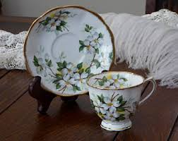 dogwood teacup etsy