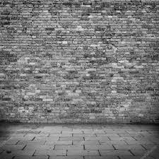 grunge background brick wall texture black and white sidewalk