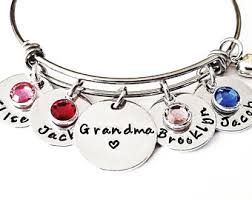 grandparent jewelry gifts jewelry etsy