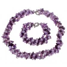 natural amethyst necklace images Natural cultured freshwater pearl jewelry set bracelet necklace jpg