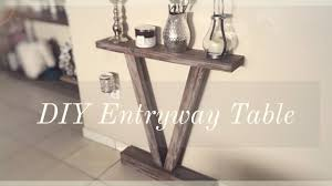 Diy Entry Table by Diy Rustic Entryway Table For Less Than 10 Youtube