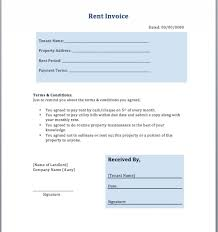rent3jpg rental invoice free rent receipt template word car
