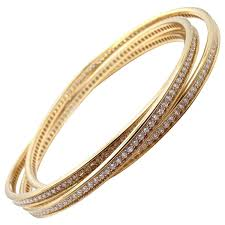 gold bangles bracelet images Cartier trinity diamond gold bangle bracelet at 1stdibs jpg
