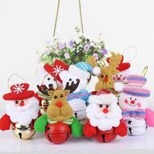 decorations tree bell ornaments santa claus