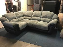 littlewoods very grey corner sofa small l shape right angle left