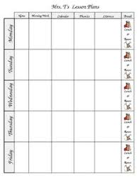 this easy to use weekly lesson plan template is an excel file that