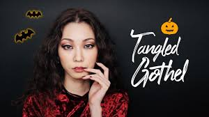 Black Makeup For Halloween Tangled Mother Gothel Makeup For Halloween Youtube
