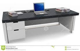 U Schreibtisch Schreibtisch 3d Mit Laptop Und Leitprogrammstuhl Stock Abbildung