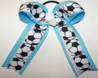 white and blue bows sports bows for hair bows