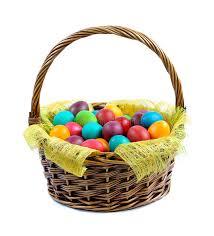 easter egg basket easter eggs in basket stock photo image of easterbasket 23415496