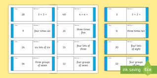 3 and 4 times table loop cards 3 and 4 times tables loop cards cards 6 8