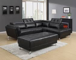 adjustable sectional sofa u8859 sectional sofa in black bonded leather by global w options