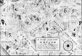 Yale Map A 1932 Illustrated Map Of Harlem U0027s Night Clubs From The Cotton