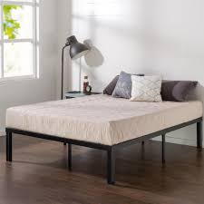 queen bed frame without head foot board the home depot