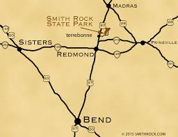 map of oregon showing madras directions smithrock smith rock state park guide smith