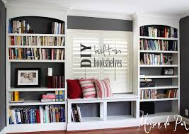 Living Room Bookcases by Diy Built In Bookshelves Maison De Pax