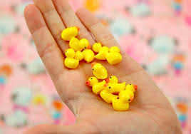 duck decorations 18mm tiny adorable miniature rubber ducky duck 3d