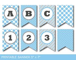 blue birthday banner printable blue party banner banner letters