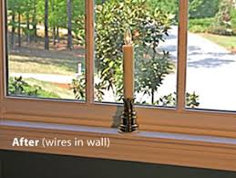 sillites candle for the window electric window candles flush