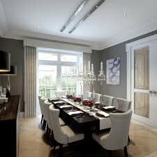 dark dining room dark grey dining table dining room transitional with chrome lamp
