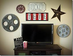 home theater decor movie reel and film 21 sayitallonthewall film