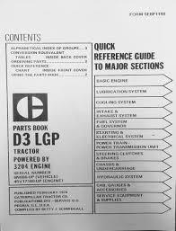 caterpillar cat d3 6n 886 and up dozer parts manual book sebp1188