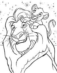 coloring pages animals stock vector free disney lion guard