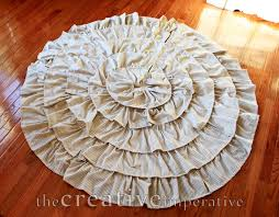 the creative imperative stripey ruffle tree skirt