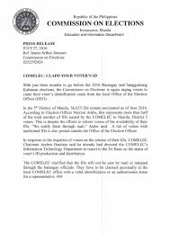 authorization letter ph comelec on twitter 19 replies 25 retweets 15 likes