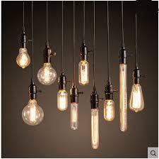 Chandelier Lightbulbs Loft Edison Retro Light Bulb Chandelier Light Bar Clothing Store