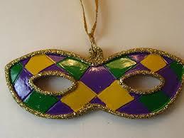 mardi gras ornaments comfy