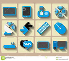 icons home tech and wireless set stock images image 34754834