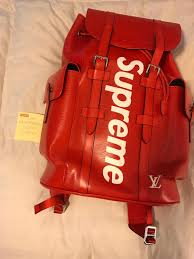 louis vuitton x supreme red christopher backpack album on imgur