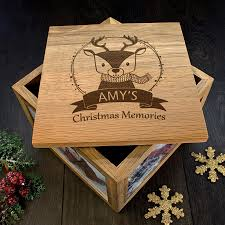 where can i buy christmas boxes personalised reindeer christmas memory box buy from prezzybox