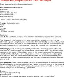 cover letter for quality assurance position