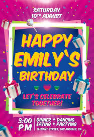 download the birthday party invitation free flyer template for