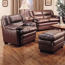 Brown Leather Chair And A Half Design Ideas Furniture Brown Leather Overstuffed Chairs With Wooden Flooring