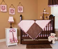 baby pink and brown nursery ideas
