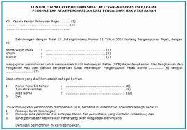contoh surat pernyataan format a1 surat keterangan bebas dalam rangka amnesti pajak ortax your