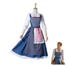 Belle Halloween Costume Blue Dress Popular Beauty Beast Costumes Buy Cheap Beauty
