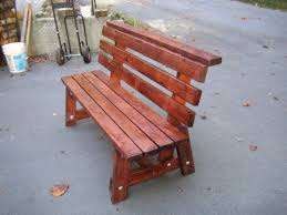 Simple Wooden Park Bench Plans by Best 25 Bench With Back Ideas On Pinterest Wood Bench With Back