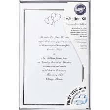 print your own wedding invitations sweet hearts wedding invitation kit wilton