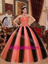 orange quinceanera dresses gown sweetheart tulle beaded quinceanera dress in 2015