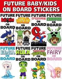 new fun future kids baby on board vinyl bumper sticker