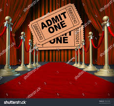 Movie Drapes Admit One Pass Multi Movie Tickets Stock Illustration 74517943