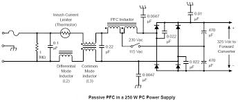 wiring diagram 400w atx power supply circuit diagram passive pfc