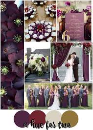 plum wedding plum cranberry and gold wedding colour scheme fall