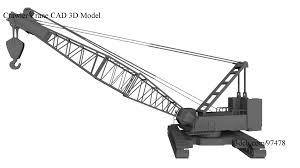crawler crane cad solid 3d model youtube