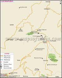 Map Location Cherrapunji City Map