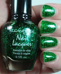 free kleancolor nail polish holiday jingle green jelly glitter